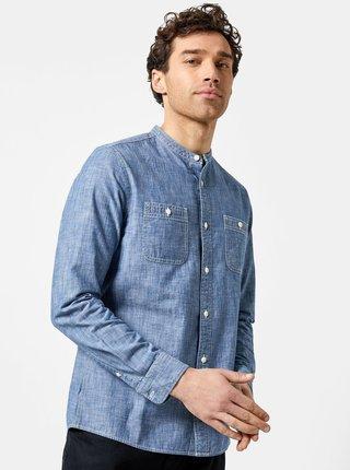 Modrá košeľa s vreckami Burton Menswear London