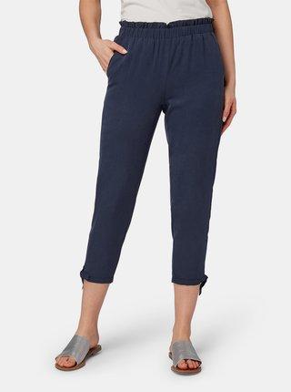 Tmavě modré dámské zkrácené kalhoty Tom Tailor