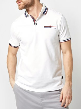 Tricou polo alb Burton Menswear London