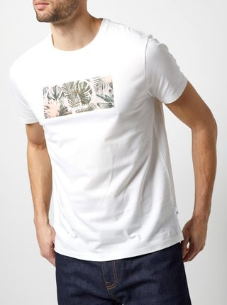Bílé tričko s potiskem Burton Menswear London
