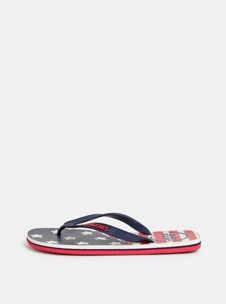 Papuci flip-flop rosii Jack & Jones Flag