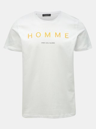 Tricou barbatesc alb Selected Homme