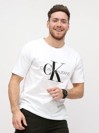 cf9935ecb0 Bílé pánské tričko s potiskem Calvin Klein Jeans