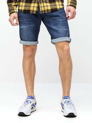 Pantaloni scurti albastri loose fit din denim Jack & Jones Max