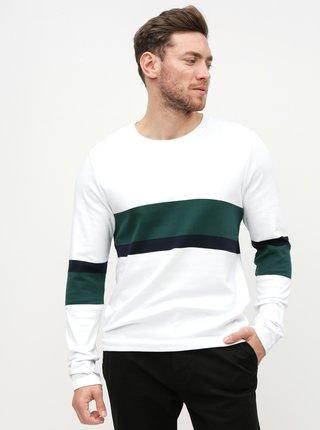 Bílé tričko s dlouhým rukávem Selected Homme Tony