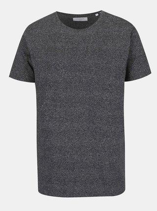 Tmavě šedé žíhané triko s krátkým rukávem Lindbergh