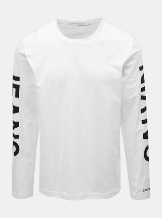 Biele pánske tričko s potlačou Calvin Klein Jeans