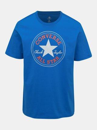 Tricou barbatesc albastru cu imprimeu Converse