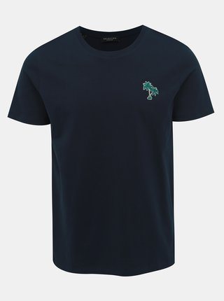 Tmavomodré tričko Selected Homme Miami