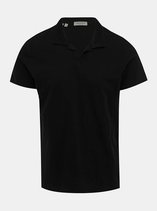 Černé polo tričko Selected Homme Fillipe