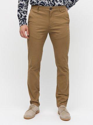Hnedé skinny chino nohavice Burton Menswear London