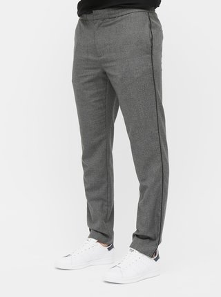 Pantaloni gri melanj slim fit Burton Menswear London