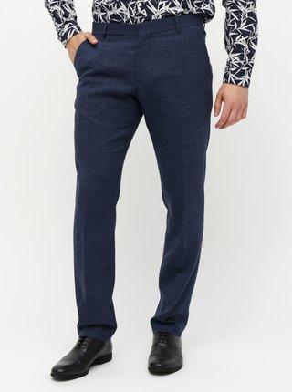 Pantaloni formali albastru inchis slim fit cu amestec de lana si in Selected Homme Bufallo