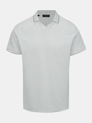 Tricou polo alb Selected Homme King