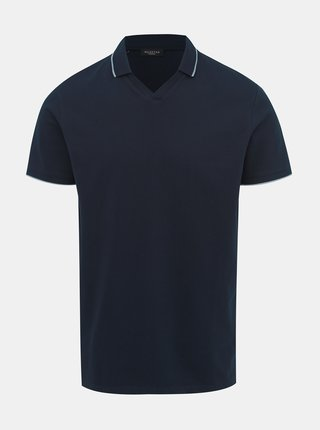 Tricou polo albastru inchis Selected Homme King
