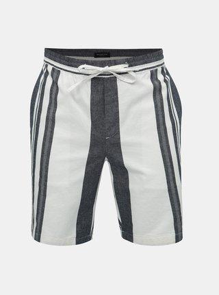 Pantaloni scurti albastru-alb chino Selected Homme Stefan