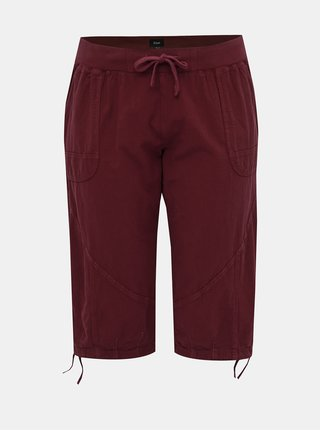 Vínové 3/4 kalhoty Zizzi