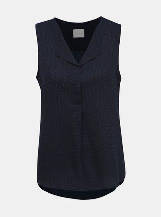 Bluza albastru inchis cu model VILA Lucy