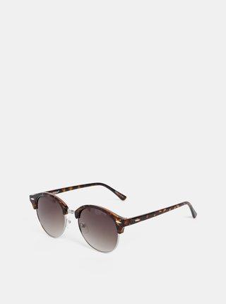 Hnedé vzorované slnečné okuliare VERO MODA Carol