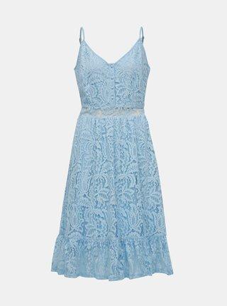 15e39bb9fb58 Modré čipkované šaty VILA Lummie