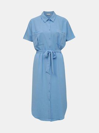 Modré košilové šaty VILA Rasha