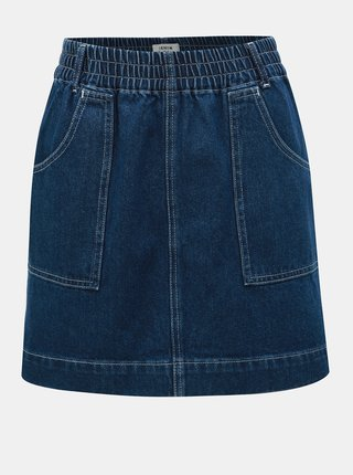 Fusta mini albastra din denim Miss Selfridge
