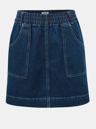 Modrá rifľová minisukňa Miss Selfridge