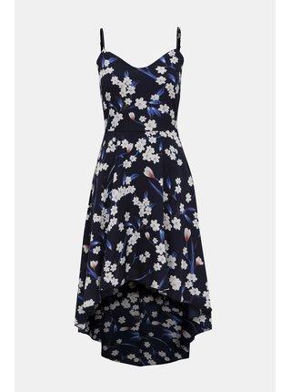 Tmavě modré květované šaty Mela London