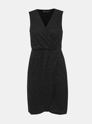 Černé krajkové pouzdrové šaty Mela London