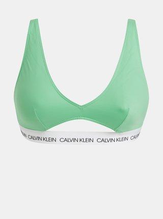 Zelený vrchný diel plaviek Calvin Klein Underwear