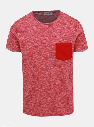 Tricou rosu melanj Selected Homme Jack
