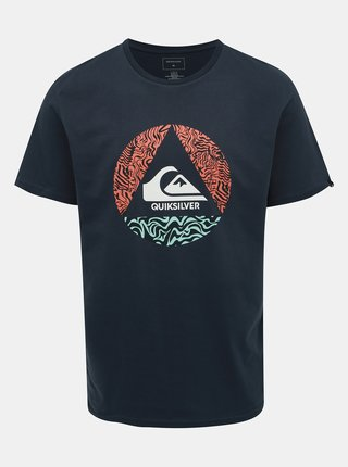 Tmavomodré regular fit tričko Quiksilver