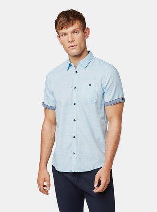 Modrá pánská žíhaná regular fit košile Tom Tailor