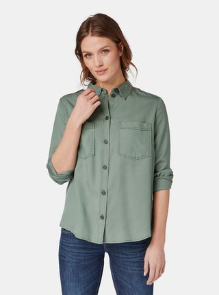 Zelená dámska košeľa Tom Tailor