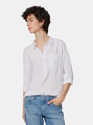 Bluza alba cu buzunar Tom Tailor Denim