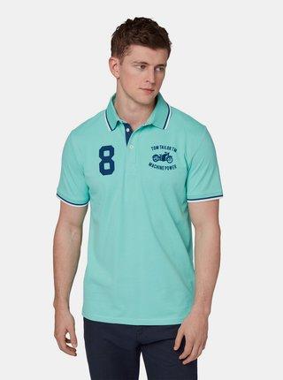 Tyrkysové pánské polo tričko s výšivkou Tom Tailor