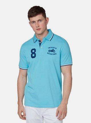 Modré pánské polo tričko s výšivkou Tom Tailor