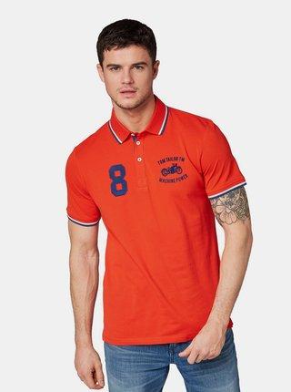 Červené pánské polo tričko s výšivkou Tom Tailor