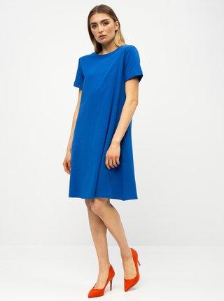 Modré basic šaty s vreckami ZOOT