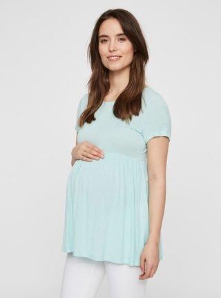 Mentolový tehotenský top Mama.licious Erina