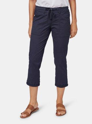 Pantaloni 3/4 albastri de dama cu broderie Tom Tailor