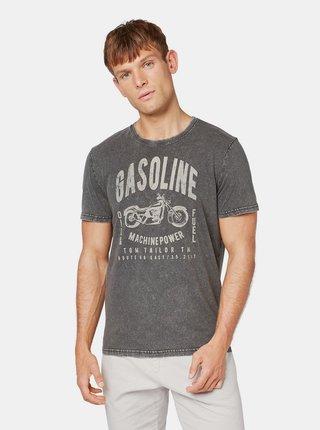 Šedé tričko s potiskem Tom Tailor