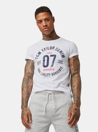 f5c70b8054 Biele pánske tričko s potlačou Tom Tailor Denim