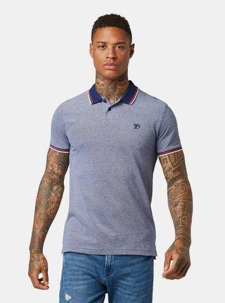 Modré pánské žíhané polo tričko Tom Tailor Denim