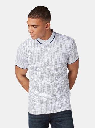 Bílé pánské vzorované polo tričko Tom Tailor Denim