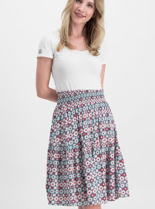 Růžovo-modrá vzorovaná sukně Blutsgeschwister Wanderwirbel