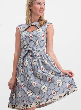 3d2d58c83848 Modré vzorované šaty s průstřihem Blutsgeschwister Schwarzwaldmädel