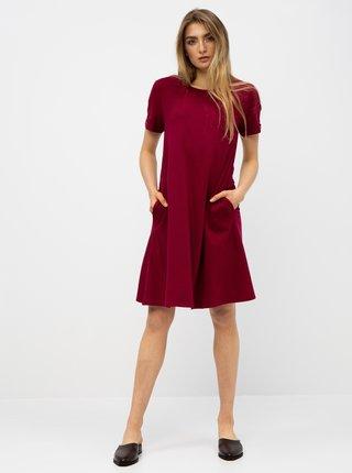 Vínové basic šaty s vreckami ZOOT