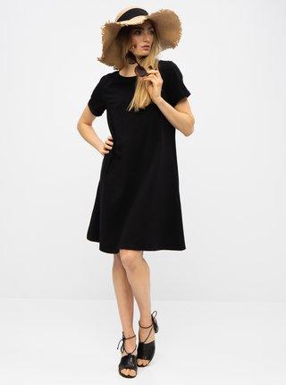 Čierne basic šaty s vreckami ZOOT