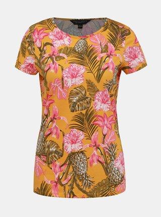 Tricou oranj floral Dorothy Perkins